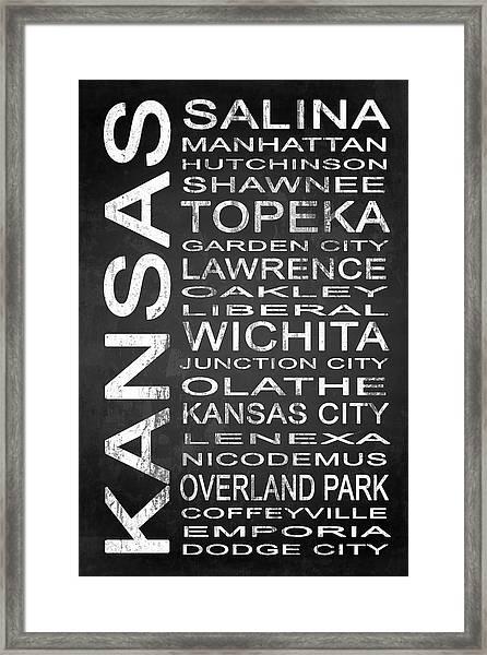 Subway Kansas State 1 Framed Print