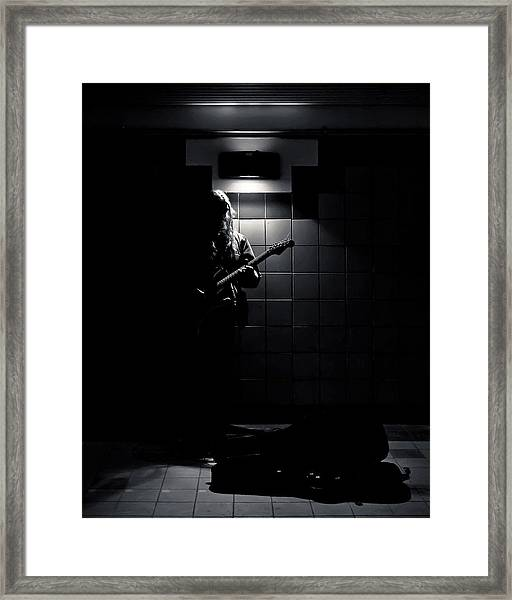 Subway Music Lawrence West Station Toronto Canada Framed Print