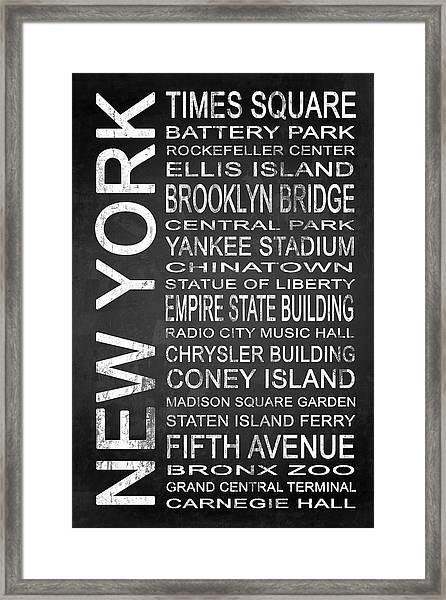 Subway New York 1 Framed Print