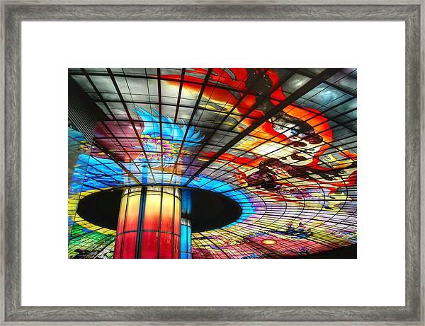 Subway Station Ceiling  Framed Print