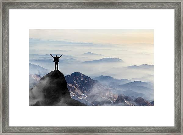 Success Framed Print by Guvendemir