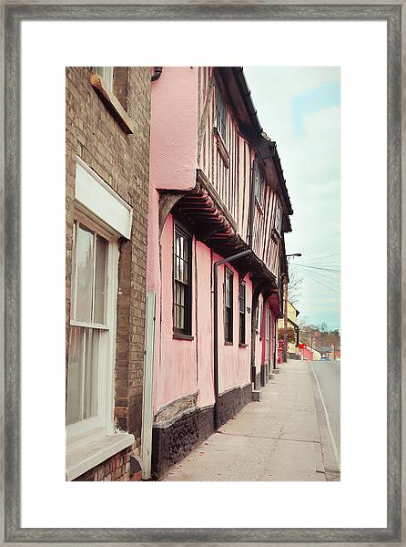 Suffolk Town Houses Framed Print