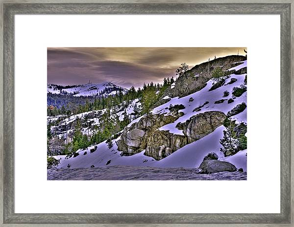 Framed Print featuring the photograph Sugar Bowl Hillside by William Havle
