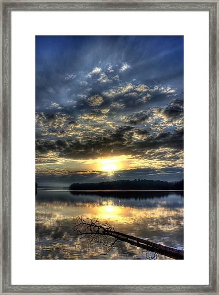 Sunrise Reflections Sugar Creek Sunrise On Lake Oconee Framed Print