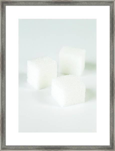 Sugar Cubes Framed Print by Gustoimages/science Photo Library