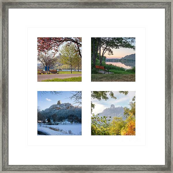Framed Print featuring the photograph Sugarloaf Four Seasons Square by Kari Yearous