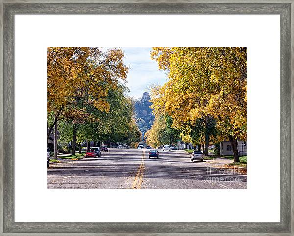 Framed Print featuring the photograph Sugarloaf Souvenir - Mankato Avenue by Kari Yearous