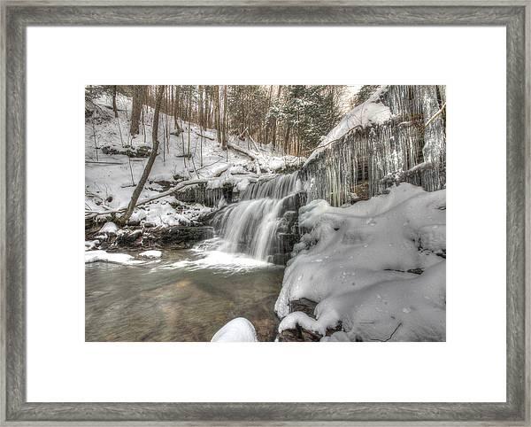Sullivan Run Waterfall 3 Framed Print