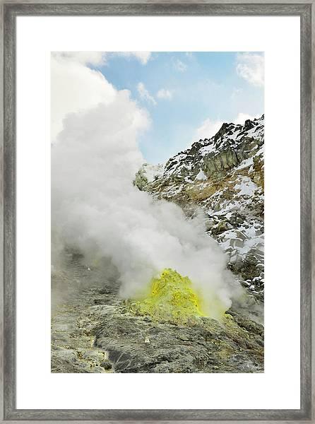 Sulphur Deposits Framed Print