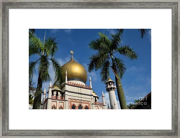 Sultan Masjid Mosque Singapore Framed Print