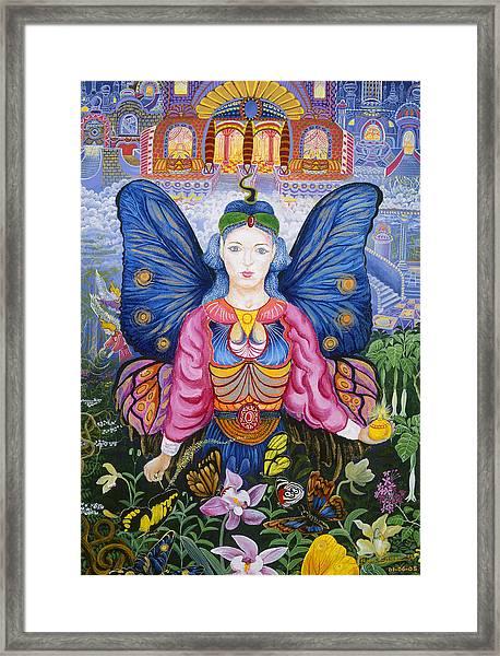 Framed Print featuring the painting Sumak Nusta by Pablo Amaringo