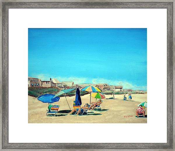 Summer At Salisbury Beach Framed Print