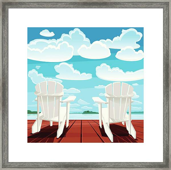 Summer Background Muskoka Chairs Framed Print
