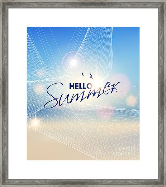 Summer Beach-vector Background Framed Print by Alessandram