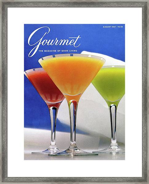 Summer Cocktails Framed Print