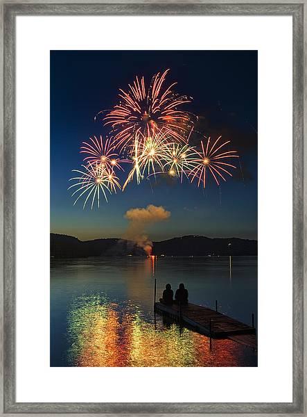 Summer Fireworks Framed Print