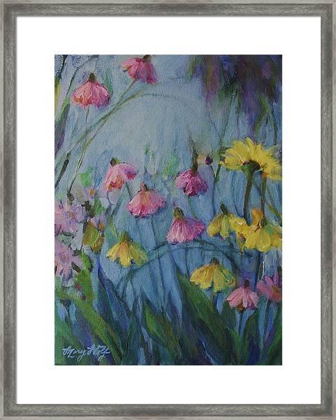 Summer Flower Garden Framed Print