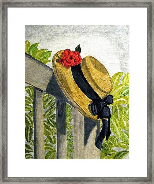 Summer Hat Framed Print