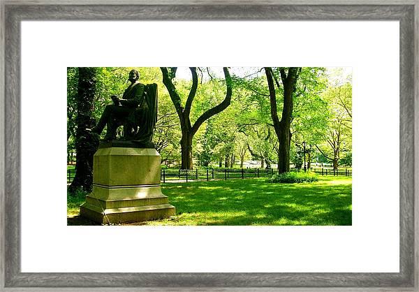 Summer In Central Park Manhattan Framed Print