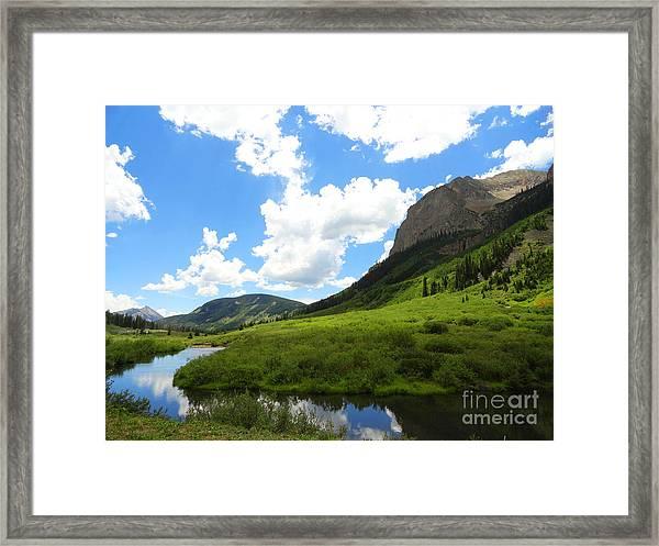 Summer In Crested Butte Framed Print
