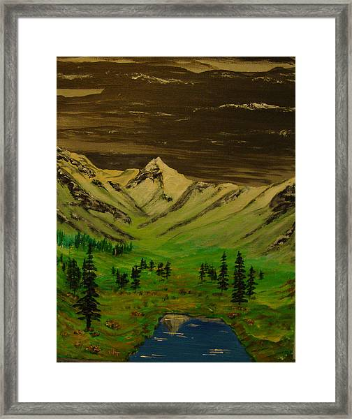 Summer In The Mountains Framed Print by Iam Wayne