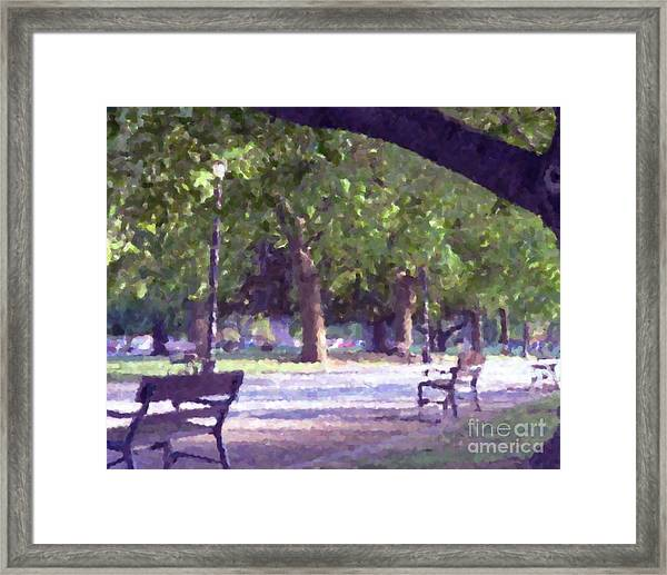 Summer In The Park Framed Print