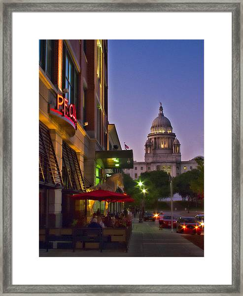 Summer Night In Providence Framed Print