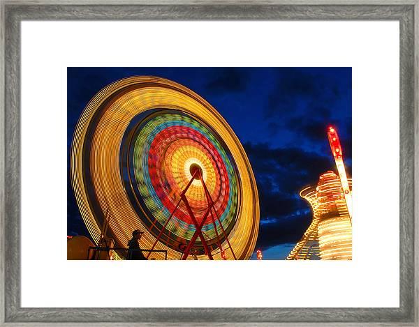 Summer Nights Ferris Wheel Framed Print