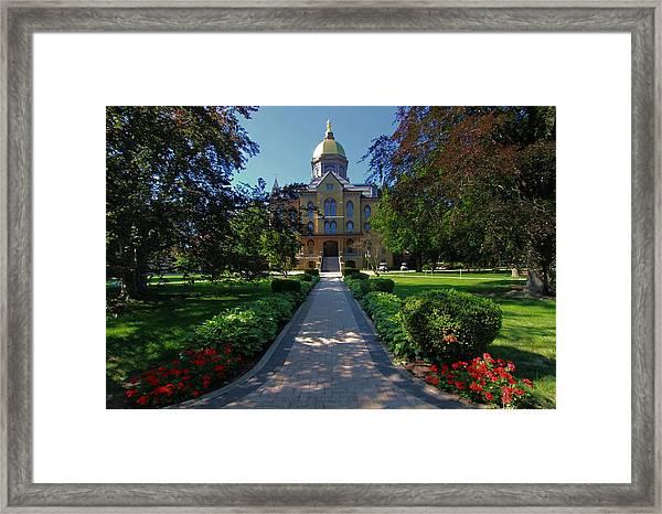 Summer On Notre Dame Campus Framed Print
