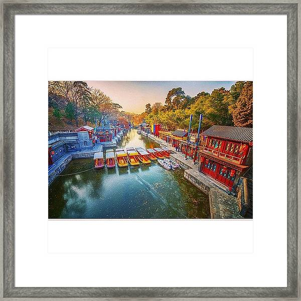 Summer Palace Beijing Framed Print