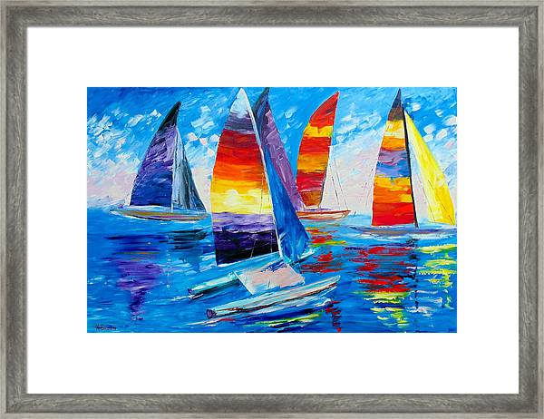 Summer Regatta Framed Print