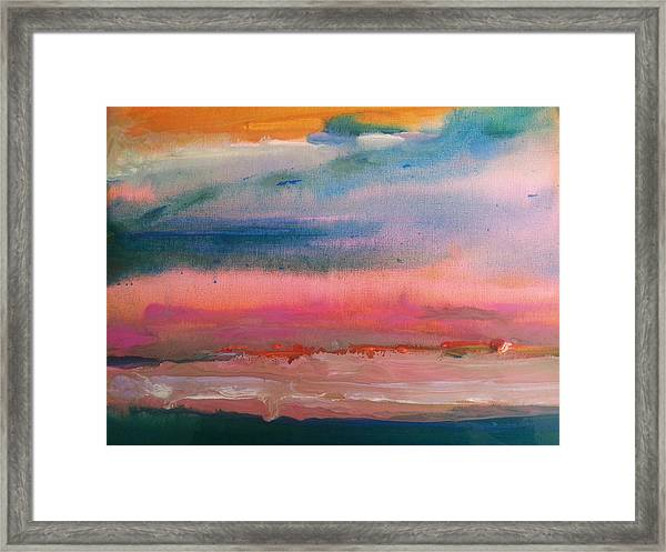 Summer Seascape Framed Print