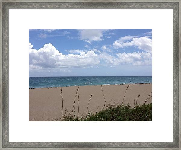 Framed Print featuring the photograph Summer Shore by Barbara Von Pagel
