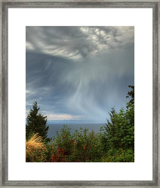 Framed Print featuring the photograph Summer Squall by Randy Hall