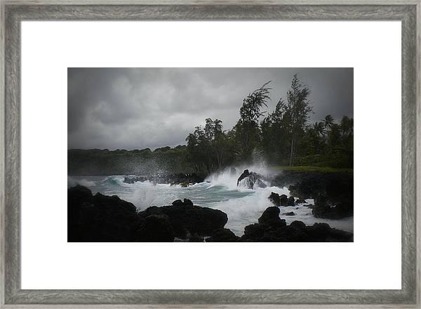 Summer Storm Hana Bay Hawaii Framed Print