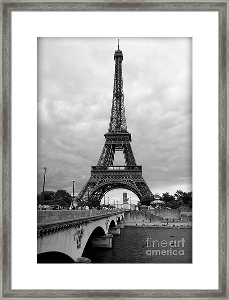 Summer Storm Over The Eiffel Tower Framed Print