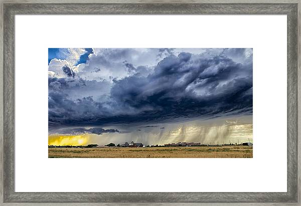 Summer Storm Twin Falls Idaho Framed Print