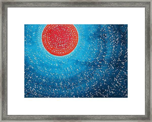 Summer Sun Original Painting Framed Print