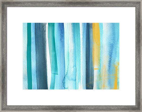 Summer Surf- Abstract Painting Framed Print