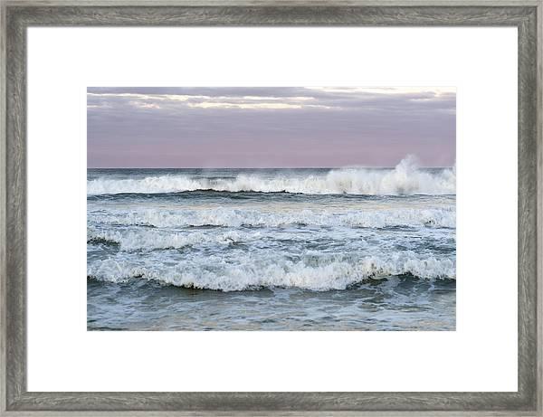 Summer Waves Seaside New Jersey Framed Print