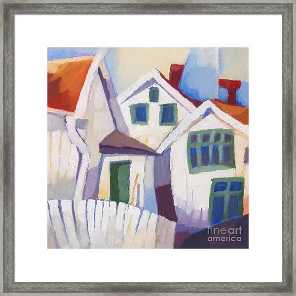 Summerhouses Framed Print