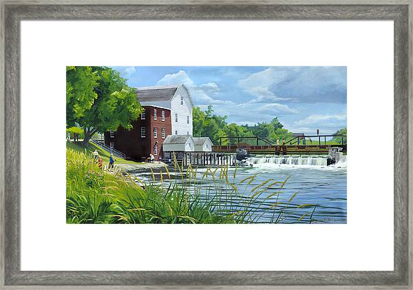 Summertime At The Old Mill Framed Print