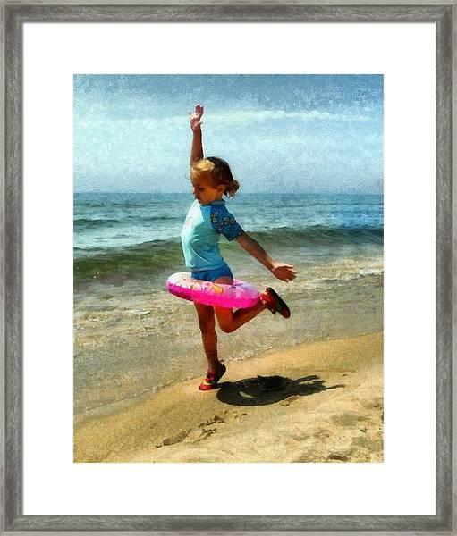 Summertime Girl Framed Print