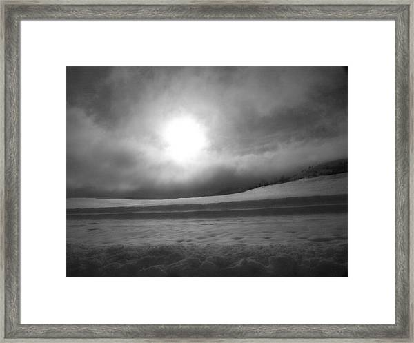 Sun And Snow Framed Print
