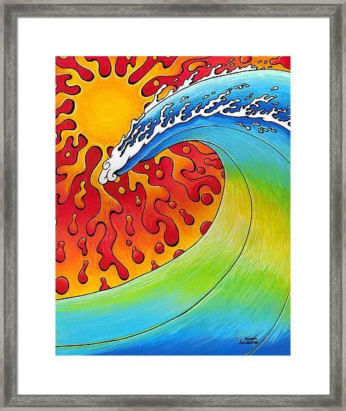 Sun And Surf Framed Print
