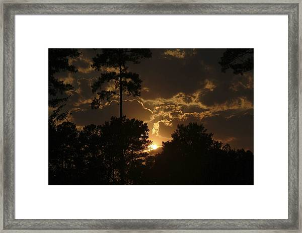 Sun Down Framed Print