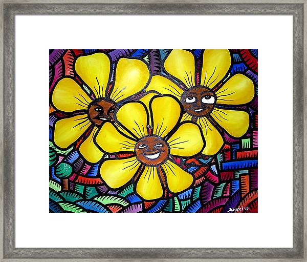 Sun Flower And Friends Manila  2010 Framed Print