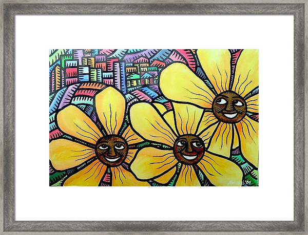 Sun Flowers And Friends Sf 2 2009 Framed Print