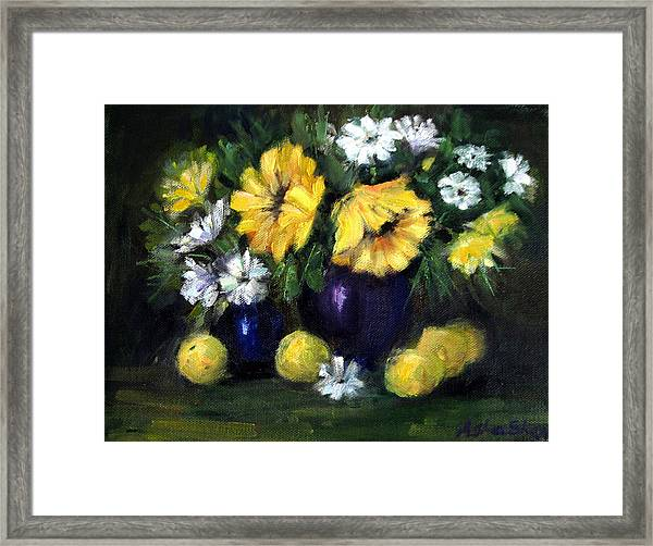 Sun Flowers Framed Print
