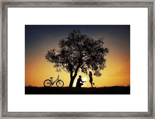 Sun For You Framed Print